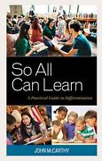 So All Can Learn A Practical Guide To Differentiation By John Mccarthy English