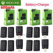 For Xbox One Controller 8x Rechargeable Battery Pack +charger Charging Dock Kits
