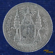 1907 Thailand Fuang 1/8 Baht Siam Rama V Dated Rs126 Y32 Silver Coin Au