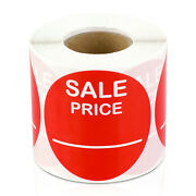 Sale Price Labels Garage Clearance Promotion Retail Stickers 2 Round, 5pk