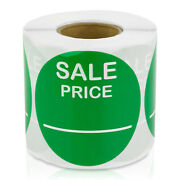 Sale Price Labels Clearance Promotion Garage Retail Stickers 2 Round, 5pk
