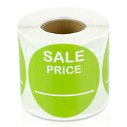 Sale Price Labels Clearance Garage Promotion Retail Stickers 2 Round, 5pk