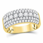 14kt Yellow Gold Mens Round Diamond Band Ring 2.00 Cttw