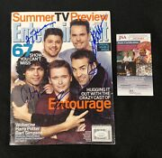 Entourage Cast Entertainment Weekly Magazine Signed By All 5 Jsa Authenticated