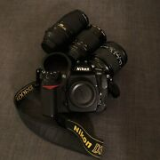 Nikon D300s Dx Camera 3 Lenses And Accessories Great Ready-to-shoot Kit