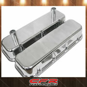 Fits 1965-95 Chevy Big Block Tall Polished Aluminum Racing Valve Covers Smooth