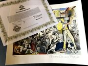 Pablo Picasso Lithographie+coa - Signed Collection Domaine Picasso - 500 Ex Z