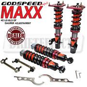 For Mini Cooper R50 02-06 Godspeed Mmx3510-b Maxx Coilovers Camber Plate Kit