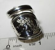 1867 Cameo Spoon Ring Civil War Era H And S Hotchkiss And Schreuder Medallion