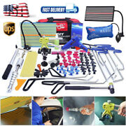 110andtimes Pdr Push Rods Tools Paintless Dent Repair Removal Puller Lifter Led Light