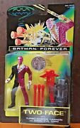 Batman Forever Two Face 1995 With Turbo Charge Cannon And Good/evil Coin