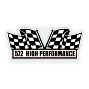572 High Performance Engine Air Cleaner Decal Fits Chevy Crate Motor Hot Rod