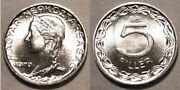 2 Hungary 5 Filler Coin 1970 Km549 Bu Catalog Value 10 Each, Postpaid In Usa