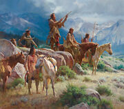 Martin Grelle Prayers Of The Pipe Carrier Canvas Giclee