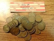1936-d Lincoln Wheat Cent Penny 50 Coin Roll G-xf Collector Coins