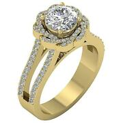 Solitaire Ring I1 G 2.50 Ct Round Cut Diamond 14k Solid Gold Prong Set 12.10 Mm