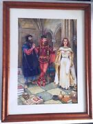 Tim Solliday Watercolor Painting Design For Shakespeare Play Poster Signed 1980s