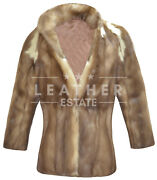 Women Sable Coat Real Russian Sable Fur Jacket High Quality