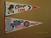 Mlb Chicago Cubs Vintage 1960's Cubbie Batter And 1984 Nl Champions Logo Pennants