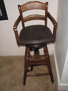 Antique Childs Barber Chair 1880