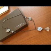 Silpada Sterling Silver Oxidized Coin And Crystal Drop Pendant N1713 22 Long 119