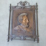 Rare Turn Of The Century Abe Lincoln Etched And Embossed Portrait......look