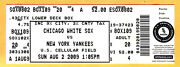 Melky Cabrera Hits For The Cycle 8/2/09 Yankees/white Sox Full Ticket