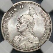 1891 Ngc Ms 66 German East Africa 1/4 Rupie Silver Lion Coin 77k 18122301c