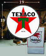19 X 19 Texaco Shield Gas Vinyl Decal Lubester Oil Pump Can Lubster