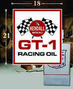 21 X 18 Kendall Racing Gas Vinyl Decal Lubester Oil Pump Can Lubster