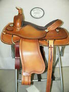 16 G.w. Crate Ranch Roping Saddle Made In Bryant Alabama