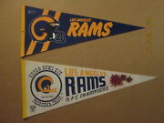 Nfl Los Angeles Rams 1980's 2 Bar Facemask And Super Bowl Xiv Football Pennants 2