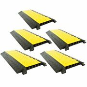 5-pack Modular Rubber 5-cable Warehouse Electrical Snake Cover Protector Ramp