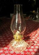Antique Oil Lamp Fish Scale One Finger Finger Hand Lamp 11-1/2 Tall Over All