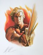 Alex Ross Rare Flash Gordon Paper Giclee Signed Exclusive Sdcc 2008 Last One