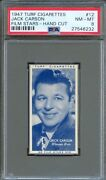 1947 Turf Cigarettes Card 12 Jack Carson Mildred Pierce Roughly Speaking Psa 8