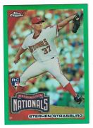 2010 Topps Chrome Green Refractor Stephen Strasburg Rookie Card And039d /599