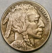 1924 S Buffalo Indian Head Nickel Bold Full Horn—very Rare Shattered Die Obverse