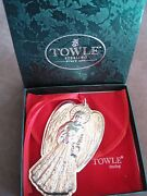 Towle Silversmiths Sterling Angel Pendant 1996 3 5/8 Inches