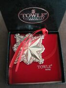 Towle Silversmiths Sterling Star Pendant Ornament 1999 3.5 Inches