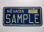 1976 And03976 Nevada Sample License Plate Auto Tag Las Vegas Yom Old Car Gas Oil Sign