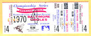 Super Rare Proof Full Ticket 1970 Alcs Game 4 At Orioles-brooks/frank Robinson
