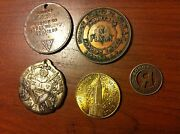 New York Tokens Masonic Medal 1866 Corning One Penny Empire State Rare