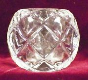 Antique Master Salt Diamond Pattern Open Dip Large Early American Pressed Glass