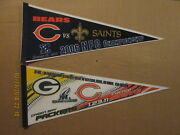 Nfl Chicago Bears Vintage 2006 And 2011 Nfc Championship Logo Football Pennants