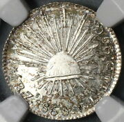 1860-zs Ngc Ms 62 Mexico 1/2 Real Zacatecas Mint Lustrous Silver Coin 18070701c