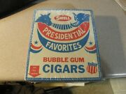Vintage Ronald Reagan Swell Presidential Bubble Gum Cigar Case Of 24 Sealed Box