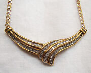 Diamond And Gold Necklace With Box And Valuation Certificate