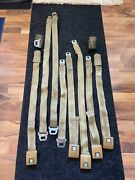 70 Chevy Chevelle Gold Seat Belts Complete Set Used Original Gm