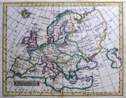 Europe Copper Engraved Map By John Russell Genuine Antique C1795